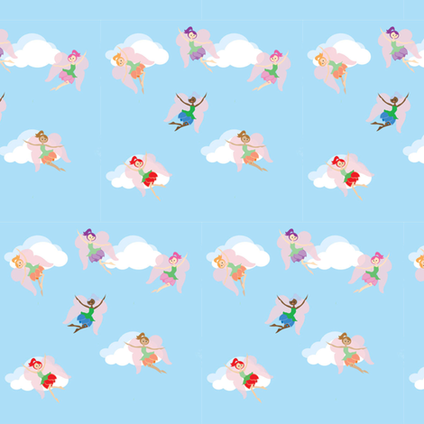 Flower Fairies fabric by kiwicuties on Spoonflower - custom fabric