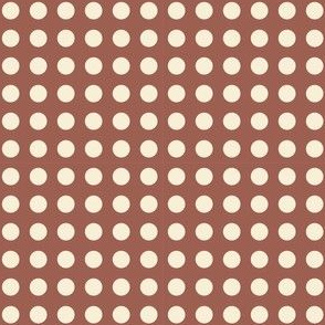 chocolate polka dots