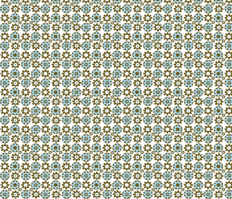 Spinning Cogs fabric by kiwicuties on Spoonflower - custom fabric