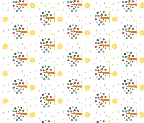 Sunshine Day-ed fabric by cutiepoops on Spoonflower - custom fabric