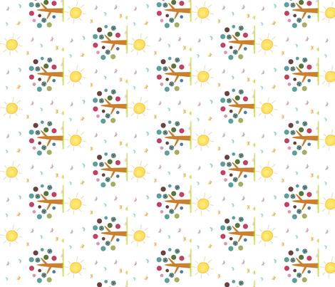 Sunshine Day-ed fabric by cutiepoops on Spoonflower - custom fabric