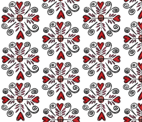 Heart Compass fabric by gretchenlittle on Spoonflower - custom fabric