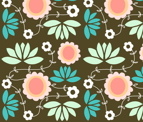 Vine blossoms fabric by emilyb123 on Spoonflower - custom fabric