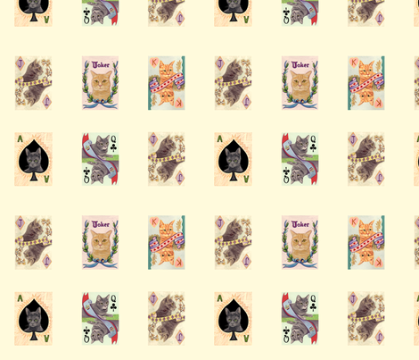 white_smaller_cat_ fabric by orangeslice on Spoonflower - custom fabric