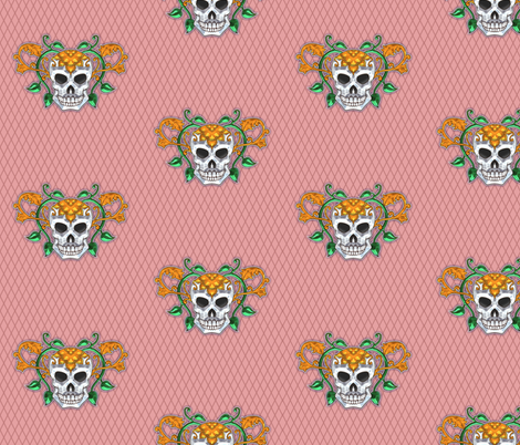 Skull 4 fabric by jadegordon on Spoonflower - custom fabric
