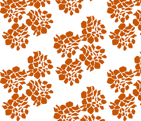 Burnt Petals fabric by stephanie on Spoonflower - custom fabric