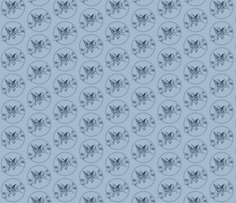 Patriotic Toile  Blue  fabric by dentednj on Spoonflower - custom fabric