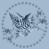 Patriotic Toile  Blue