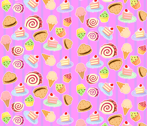 Sweets 2 fabric by jadegordon on Spoonflower - custom fabric