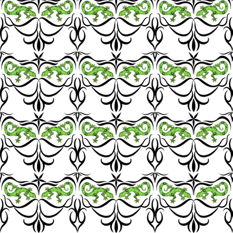 a_tribe_of_gecko_jpg fabric by vo_aka_virginiao on Spoonflower - custom fabric