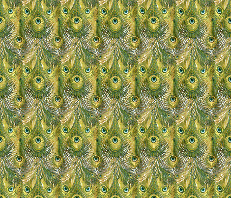 Nouveau peacock feathers fabric by hannafate on Spoonflower - custom fabric