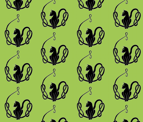 celtcattailknotblka2 fabric by ingridthecrafty on Spoonflower - custom fabric