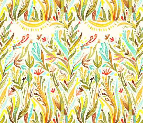 Grow to the Sun! fabric by katie_daisy on Spoonflower - custom fabric
