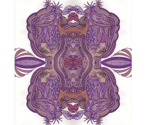 Jamjax Tatoo Crest fabric by jamjax on Spoonflower - custom fabric