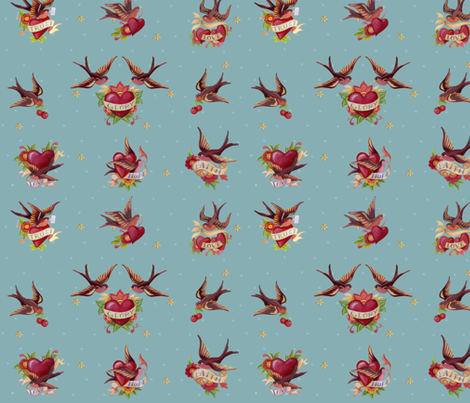 tattoo_design fabric by daniellehanson on Spoonflower - custom fabric
