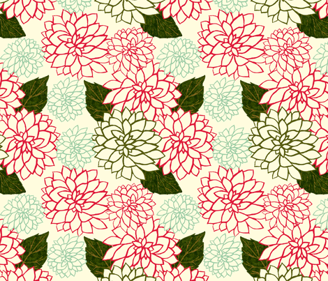 Dahlia Variety fabric by cksstudio80 on Spoonflower - custom fabric