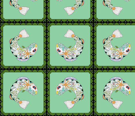 Fish_doodles_fabric fabric by ginnym on Spoonflower - custom fabric