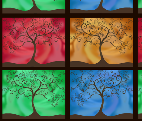 Tree of Life fabric by joyfulrose on Spoonflower - custom fabric