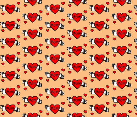 I heart Mom fabric by tokun on Spoonflower - custom fabric