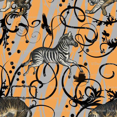 Vintage Animals Orange