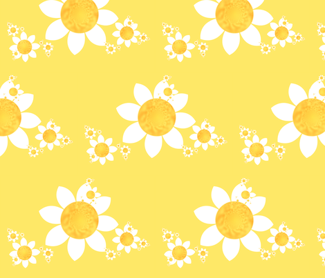 snappy sunflowers fabric by winter on Spoonflower - custom fabric