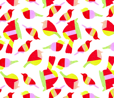 geometric birds fabric by leonielovesyou on Spoonflower - custom fabric