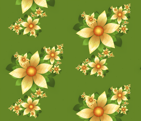 summer garden fabric by winter on Spoonflower - custom fabric