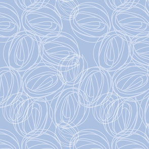 White and Blue rose motif. Copyright LdJ design 2010