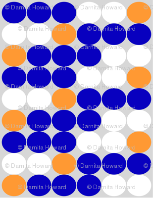Blue White Orange Circle