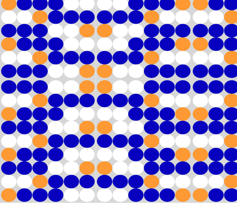 Blue White Orange Circle fabric by dlhoward on Spoonflower - custom fabric