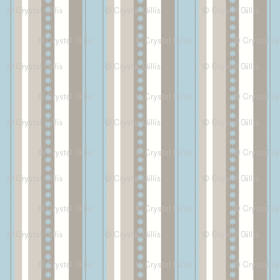 Turquoise Daze-Stripes
