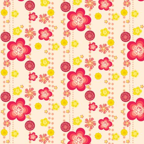Retro Floral Fun! - © PinkSodaPop 4ComputerHeaven.com fabric by pinksodapop on Spoonflower - custom fabric