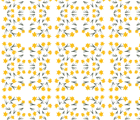 Daffodils fabric by kdmade on Spoonflower - custom fabric
