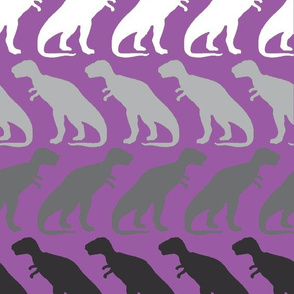 Monochrome Dinosaurs Purple