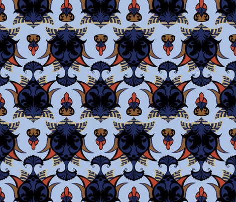objet_nouveau_5 fabric by periwinklepaisley on Spoonflower - custom fabric