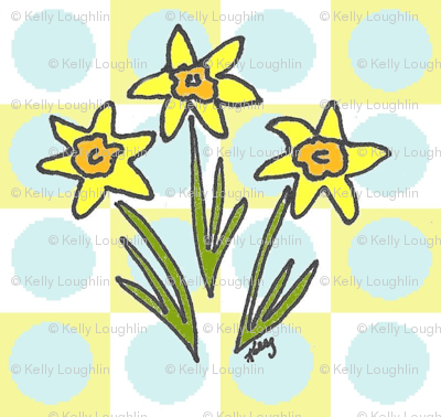 My Three Daffodils