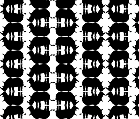 Rhinos fabric by coveredbydesign on Spoonflower - custom fabric