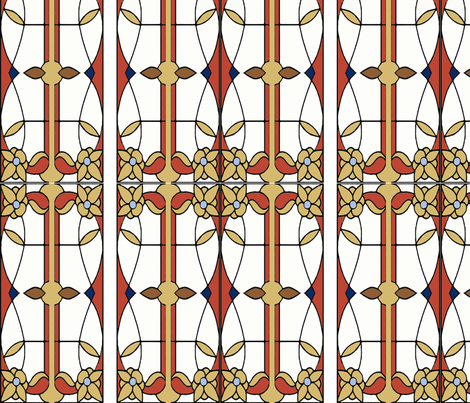 Art_Nouveau_Stem_III fabric by idlejo on Spoonflower - custom fabric