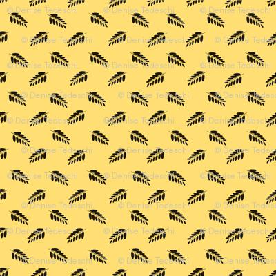 Leaf Mini Print Yellow
