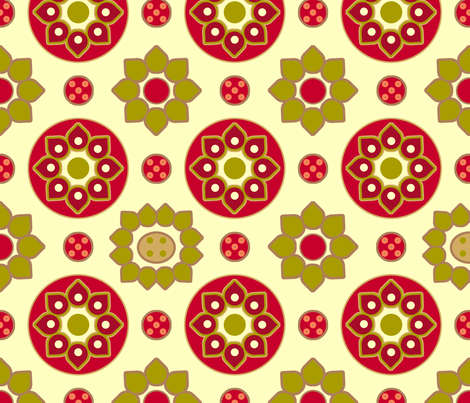mulberry_mosaic_in_red fabric by holli_zollinger on Spoonflower - custom fabric