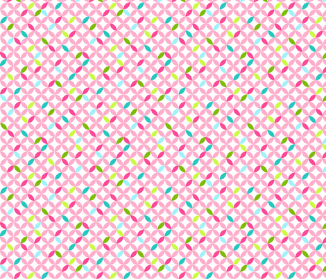 Happy Trellis Pink fabric by carinaenvoldsenharris on Spoonflower - custom fabric