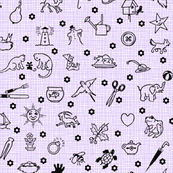 Vintage I Spy Game in Lavender