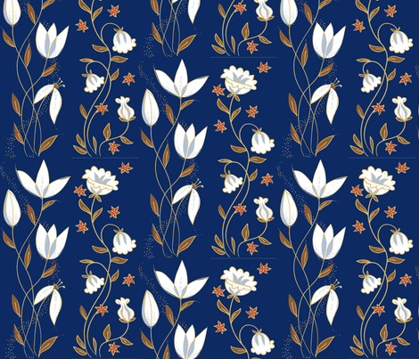 tulip_blue fabric by antoniamanda on Spoonflower - custom fabric