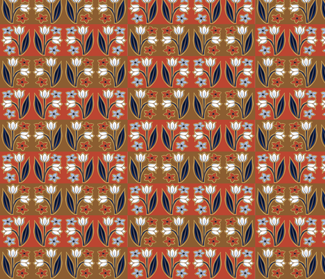 tulip_tiles fabric by antoniamanda on Spoonflower - custom fabric