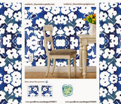 "C'EST LA VIVâ""¢ Garden Lark Collection_BLUE WHITE"
