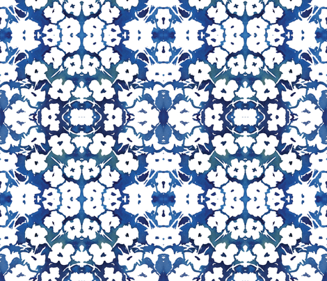 C'EST LA VIV™ Garden Lark Collection_BLUE WHITE  fabric by cest_la_viv on Spoonflower - custom fabric