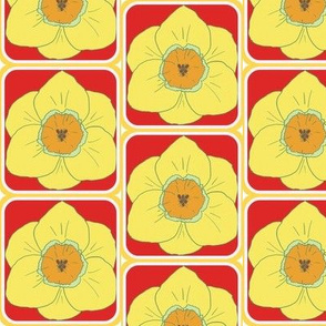 daffodil party red