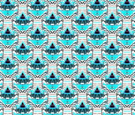 Cirak Aqua fabric by minerva_bloom on Spoonflower - custom fabric