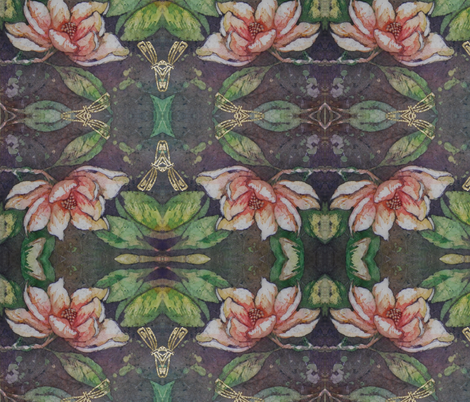Magnolia_card fabric by tolepantr on Spoonflower - custom fabric