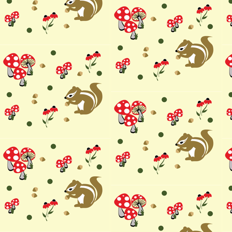 Squirrel Park fabric by kiwicuties on Spoonflower - custom fabric